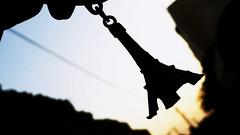 #Paris @taken_by_me (khalil_abusabha) Tags: sun paris france tower car key tour sundown eiffel medal ring
