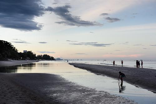 Hua Hin beach sunset