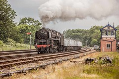 Keeping the home fires burning! (Tony Teague (Slowcomo)) Tags: greatcentralrailway gcr brclass9f windcutters swithlandsidings canonef70200mmf28lisiiusmlens no92212 canoneos5dmkiii tonyteague slowcomo timelineeventscharter no9217892212