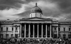 The National Gallery (Rich Walker75) Tags: uk england white black building london art westminster architecture square blackwhite gallery trafalgar trafalgarsquare dome