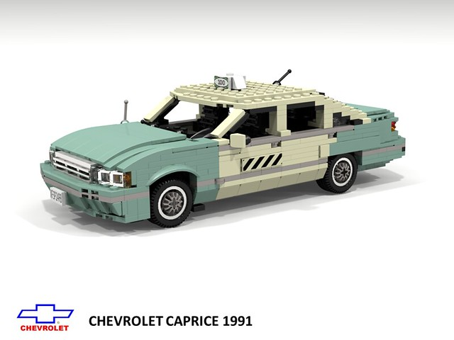 auto b usa classic chevrolet film car america sedan movie us model gm lego stuck general render taxi 4th can days motors chevy 1991 28 impala saloon generation challenge 92 1990s 90s cad lugnuts povray caprice chev moc bof ldd 28days miniland bbody lego911 stuckinthe90s