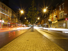 traffic lights mare street hackney - panasonic camera review (Outerground_Christos Hatjoullis) Tags: street night lumix lights long exposure mare review trails kit hackney diffraction e8 christos outerground roadtest gf5 hatjoullis