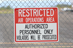 They can't mean me... (twm1340) Tags: arizona airport air july az will cottonwood area be only operations restricted authorized personnel violators 2015 prosecuted p52