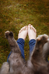 singing in the rain (iliketobeweird) Tags: people cat funny paws foots