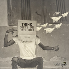 Thinkoutsidethebox_ (KayodeAbel) Tags: blackandwhite art break box fineart think creative kayodeabel