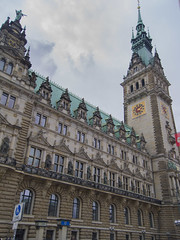 Hamburg City Hall (isobrown) Tags: sculpture building architecture clouds germany outdoor hamburg classical
