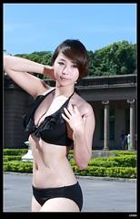 nEO_IMG_DP1U8436 (c0466art) Tags: morning light portrait black color water canon pretty play bright outdoor good gorgeous south taiwan showgirl bikini figure attractive charming activity kaoshiung 1dx c0466art