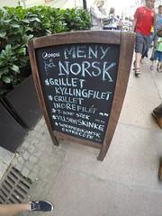 Norwegian Meny!