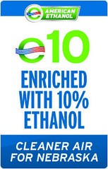 E10- a blend of 10% American Ethanol