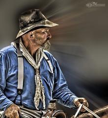 Cowboy _6431B (mikeyasp) Tags: people men cowboys photoshop portraits texas hats western layers forthworth cowpoke blurs rugged chisholmtrail cattledrive ranchhand