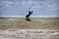 Kite-Surfing (Uli Constabel) Tags: sport strand meer wind kitesurfing dänemark nordsee wellen