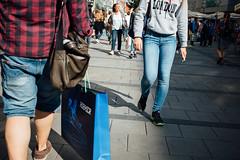 Walking by #I (~Larusso~) Tags: street city girls summer sun man canon munich mnchen outdoor sunny center walkway feed 24mm f28 kodakgold100 2015 aperturepriority vsco secatf28 canoneos70d