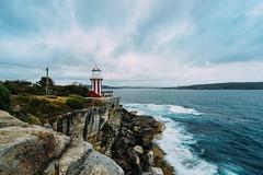 Hornby Lighthouse (haoguoju) Tags: australia nsw newsouthwales sydney summer landscape outdoor a7m2 a7 sony sonya7markii sonyilce7m2 fe beach light shadow cloudy campcove hut watsonsbay cityview seascape water sea cityscape hornby ladybay rock fe1635mmf4zaoss sonyzeissfe1635mmf4zaoss zeiss longexposure 1635mm 16mm hornbylighthouse lighthouse