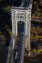 George Washington Bridge (johnbacaring) Tags: gwb georgewashington georgewashingtonbridge nyc newyorkcity hudsonriver firtlee newjersey panynj portauthority littleredlighthouse lighthouse r44 heli helicopter