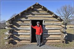 Runemaker on His 79th Birthday (Explored) (Runemaker) Tags: dl runemaker birthday newyearsday 1938 2017 valleyforge pennsylvania nationalhistoricpark revolutionarywar hut cabin