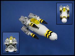 The Hornet (Karf Oohlu) Tags: lego moc microscale microspacetopia scifi gunship hornet
