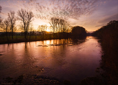 Eder river sunset