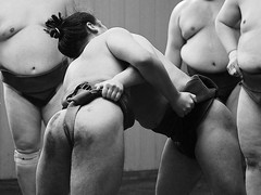 Tokyo 2015 (hunbille) Tags: japan tokyo ryogoku district sumo sumotown town stable stables morning practice training morningtraining dewanoumistable dewanoumi wrestling wrestler wrestlers