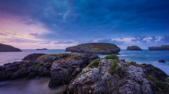 Light is a painter (TanzPanorama) Tags: seascape waterscape rock rockformation cloud spain espana asturias tanzpanorama europe travel tourism sonya7ii sonyilce7m2 fe1635mmf4zaoss sel1635z variotessartfe1635mmf4zaoss evening twilight dusk pink shoreline water sky light painter