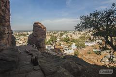 View of Badami town from the caves (Vinda Kare) Tags: india ancient karnataka badami caves vatapi bagalkot sandstone