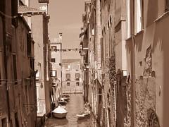 Venice, Italy (RoccerSoccerDave) Tags: italy venice sepia canon sx220hs street powershot