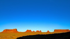 Monument Valley – A Closer Look! (Herculeus.) Tags: 2016 bouldersstonerocks butte clouds country day erosion fall fromgouldings landscape landscapes mesa monumentvalley nativeamerican navaho navahonation oct outdoor rockoutcrop shadows stratusclouds6kfeet ut vaportrails westus16 5photosaday sky cloud