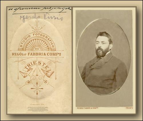 5500 DSB Jerko Vusio Jerolim Rođen 1847 Bol Studio Fotografico Regolo Fabbri & Comp Trieste K. Krizvanek Wien