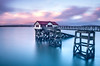 The Old Life Boat Station at Dusk (DBLucas_photos) Tags: sea sky boat mumbles swansea lifeboat slow shutter colour dusk wales