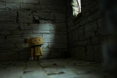 Medieval Cell w Danbo iiii (Alden M) Tags: danbo danboard amazon revoltech robot dungeon lumix g85 panasonic