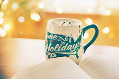 Hot chocolate weather (tatiana_brown) Tags: lifestyle cup book booklover bokeh dof winter