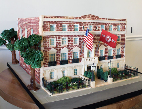 Harvard Club Sculpted Building Cake
