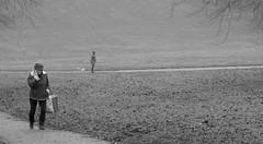 ParkLife (Tony Tooth) Tags: nikon d7100 nikkor 50mm f18g people path pathway park bw blackandwhite monochrome broughpark staffs leek staffordshire