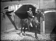 img475 (foundin_a_attic) Tags: french orbelgium military horses around 1900s 1900 house solder uniform stables