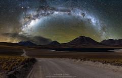 Volcanoes & Stars (vglima1975) Tags: atacama atacamadesert sanpedrodeatacama milkyway landscape nature stars night astrophotography volcano galaxy inexplore
