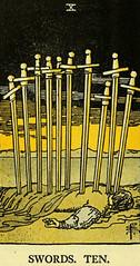 Ten of Swords (~ Lone Wadi ~) Tags: tarot tarotcard blackmagic sorcery occult retro 1910s magic
