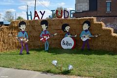 HAY JUDE (Jake (Studio 9265)) Tags: hay bale art creative display artwork country rural usa united states america todd county ky kentucky fall 2016 hey jude beatles band cutout guitar drums