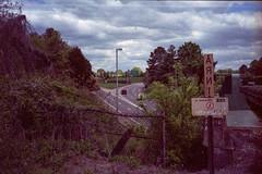 Backwards (Don't Sink) Tags: railroad bridge film train 35mm river james highway amtrak expired 35 fujica