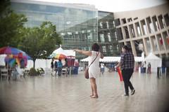 Plaza Pointing (Avintiquin) Tags: festival digital lens lumix utah f14 pride cctv panasonic adapter slc bleh 25mm 2015 m43 lgbtqia gf2 avintiquin