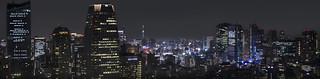 Night view towards Tokyo Sky Tree Panorama