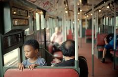 Looking Back (dtanist) Tags: new york city nyc newyorkcity boy newyork film beach brooklyn analog train subway bay centennial back brighton looking kodak rangefinder olympus celebration nostalgia sp mta 100 35 zuiko bmt ektar sheepshead gzuiko 35sp 42mm