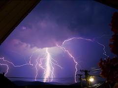 Thunderstorm - 3 pics (ToMpI97) Tags: blue storm hungary village purple lightning thunder