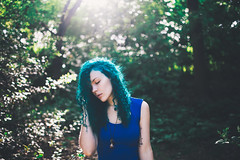 June (Savannah Daras) Tags: uk sunset summer england selfportrait london nature hairdye girl field sunshine fashion tattoo female backlight forest outside outdoors person golden evening necklace woods colorful soft solitude crystals alone afternoon unitedkingdom bokeh outdoor stones vibrant exploring longhair warmth curls wanderlust hidden human curly hour portraiture expressive freckles calligraphy lookingdown delicate eyesclosed fragile curlyhair bluehair gems emotive epping plantlife greenhair tattooed manicpanic paleskin colorfulhair savannahdaras