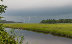 Lightning Over Great Marsh (stevebfotos) Tags: creek delaware lightning lewes greatmarsh