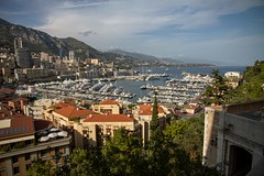 Monte-Carlo (Nadialeesi) Tags: trip travel sea summer sky sun sunlight france color water colors beauty clouds port canon boats eos freedom harbor seaside europe view pov july naturallight sunny noflash montecarlo monaco 7d birdview travelphotography noclouds wonderlust eos7d canoneos7d