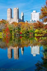 Majestic Colors (SamuelWalters74) Tags: newyorkcity autumn trees newyork unitedstates centralpark manhattan fallcolors places autumnleaves autumncolors fallfoliage thelake themajestic centralparkinautumn