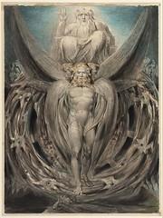 The Whirlwind : Ezekiel's Vision of the Cherubim and Eyed Wheels (Illustration to the Old Testament, Ezekiel I 4–28) (lluisribesmateu1969) Tags: blake museumoffinearts boston 19thcentury notonview