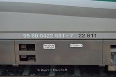 22811, Portlaoise, 8/8/15 (hurricanemk1c) Tags: irish train rail railway trains railways irishrail rok rotem portlaoise 2015 icr iarnród 22000 22011 22811 éireann iarnródéireann 4pce 1525heustonlimerick