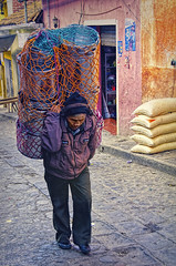 Going To Market 7 (Artypixall) Tags: guatemala chichicastenango man carrying bundle urbanscene street
