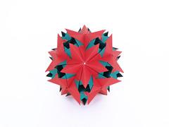 Crowea (masha_losk) Tags: kusudama кусудама origamiwork origamiart foliage origami paper paperfolding modularorigami unitorigami модульноеоригами оригами бумага folded symmetry design handmade art