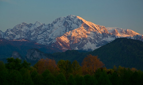Hoher Göll (2524 m) in the evening
